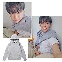 NCT127金道英同款星星印花衛衣潮ins韓版寬鬆套頭連帽百搭上衣服