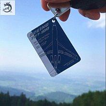 九州動漫 英國Airskinz限量行李牌鑰匙扣掛件 東航319君主320飛機蒙皮紀念