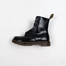 Dr. Martens 1460 8孔 黑色 硬皮 雙拉鏈 短筒 經典款 馬汀靴 女鞋