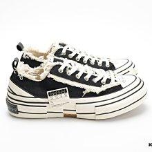 【高冠國際】保證正品 xVESSEL G.O.P. Lows 解構 基本款 帆布鞋 低筒黑白 軟木硫化鞋 吳建豪