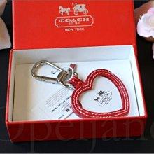情人節送禮 官網 Coach Key 愛心造型可放相片 真皮 鑰匙圈 吊環鑰匙掛環 精緻禮盒裝 愛Coach包包