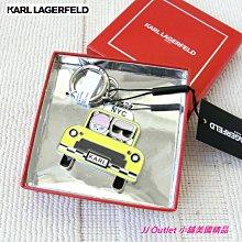 [美國購回 Karl Lagerfeld, 現貨在台]全新卡爾·拉格斐(老佛爺)可愛貓咪計程車造型鑰匙圈(附購証,禮盒)