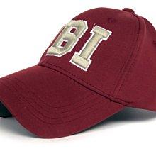 帽子專賣店【FBI運動休閒風格☆D217-1☆優質造型棒球帽】暗酒紅