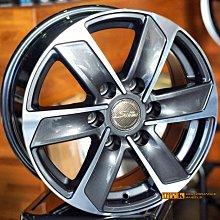 【小茵輪胎舘】16吋 6X130/139.7J 黑灰色車面 載重1400Kg 適用海力士、大T、斯塔瑞斯