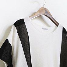 Bellee  正韓   雙ㄩ拼色飛鼠包袖絲質上衣 (2色) 【PA6114-16】預購
