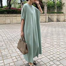 新品特價至6/26調回原價890洋裝 名媛風慵懶顯瘦蝙蝠袖舒適寬鬆冰絲連身裙 艾爾莎【TGK8839】