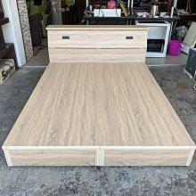香榭二手家具*全新品 梧桐橡木色 標準雙人5x6.2尺床組(床箱+床頭箱)-床底-床架-床框-床板-床頭櫃-寢具-雙人床