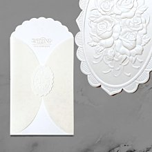 F2115 WEDDING INVITATION拱門花立體浮雕 抽卡邀請函