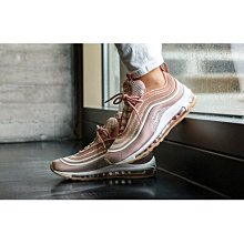 Nike Air Max 97 UL 17 針織 輕量 玫瑰金 粉 子彈 反光 氣墊 棕底 917704-600女慢跑鞋