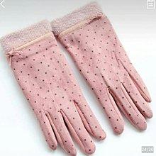 jenny SHOP~流行精品手套~兔毛蝴蝶結 小點點麂皮絨手套~隨機出貨~下單前先詢問