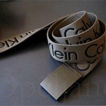 官網真品 alvin Klein CK卡文克萊卡其色百搭休閒皮帶腰帶童軍皮帶 S M  L XL號  愛Coach包包