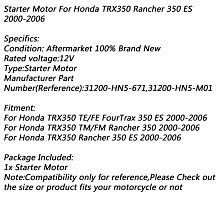 《極限超快感!!》Honda TRX350 TE/FE FourTrax 350 TM/FM Rancher 2006 啟動馬達