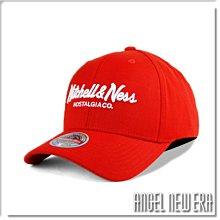 【ANGEL NEW ERA】Mitchell & Ness MN 經典排字 活力紅 老帽 有彈性 可調式 街頭 潮流
