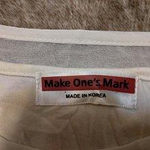 韓國製Make One s Mark 杏色不對稱設計有內裡雪紡紗上衣(全新僅試穿及下水洗淨)