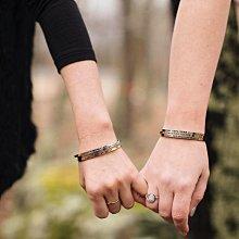 MANTRABAND 美國悄悄話手環 Love Her But Leave Her Wild 愛就愛她的一切 玫瑰金手環