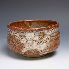 【吳苑】 志野燒 作家物 赤志野 極美繪樣火色 厚實 茶碗 抹茶碗 日本 古美術 茶道具 花道具 書道具 AN0325