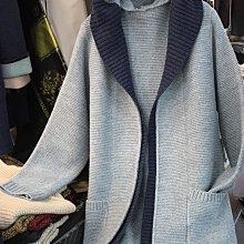正韓00林鴒大推,雙色撞色連帽針織外套,非常保暖有兩個小口袋。4-Twink同款。原價2280,連線價$1350。
