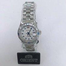 可議價 ORIENT東方錶 女 白面藍寶石 石英腕錶 (SE71F19S) 27mm
