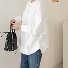 bibi  正韓 好穿落肩圓弧下擺棉質上衣 (5色) 【 BH7214 】