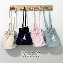 【RTG】KANGOL 側背包 水桶包 黑色 淺藍 卡其 粉紅 馬卡龍 袋鼠 英國 尼龍 束口 現貨 #1 1-4