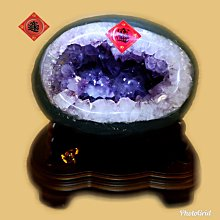🏆【168 精品】🏆 巴西頂級紫晶洞重9.8kg 寬23cm高23cm 洞深14cm.大角紫洞【C79】
