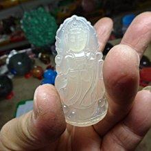 《藍晶寶石玉石特賣區→〈雕刻項鍊系列〉→天然清透月光白玉髓精雕〈大寶瓶觀音→C140