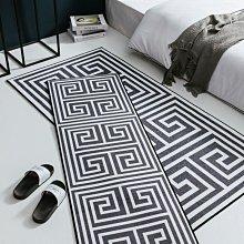 解憂zakka~  簡約幾何創意家用床邊毯 臥室書房床尾床邊地毯腳墊防滑#地墊#地毯