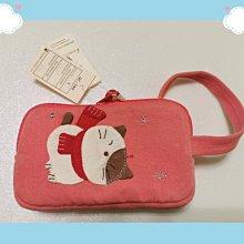 🏆【日本CARA卡拉貓】🏆卡拉貓雙層小錢包純棉材質寬14*高8*2.5cm