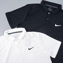 nike dry polo衫 短袖 短t 排汗 聚酯纖維 cw6851-010-100 黑 白 男