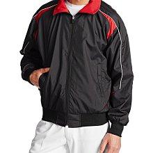 Asics/亞瑟士 棒球外套 深藍色x紅色 防風/內刷毛/蓄熱/防寒 。冬季必備UA/Mizuno/Nike可參考