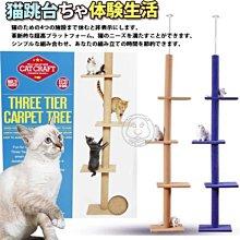【🐱🐶培菓寵物48H出貨🐰🐹】dyy》超長大型貓爬樹3way頂天豪華貓跳台 特價899元