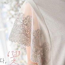 正韓:蕾絲手袖短版上衣(6色)