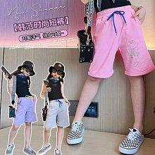 小圖藤童裝~~~中大童~~~女童高腰運動夏季薄款休閒五分中褲(A2615)