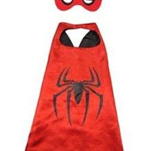 蜘蛛人萬聖節禮物 變裝派對party  打趴鋼鐵人變形金鋼.蝙蝠俠蜘蛛人兒童花燈玩具婚紗道具一組 兩件(眼罩+披風)