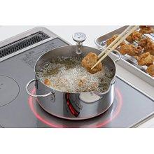 [霜兔小舖]日本代購 日本製 下村企販 18-0不繡鋼 天婦羅油炸鍋 20cm 附溫度計