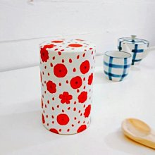 《散步生活雜貨-和雜貨散步》日本製 星燈社 - 傳統千代紙圖案 150g用 茶葉罐 收納罐-牡丹款