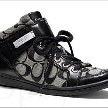 Coach shoes 黑白色 運動鞋 休閒鞋 帆布鞋 慢跑鞋 5 6.5 號 22 23.5號免運費 愛Coach包包