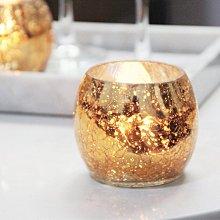 熱銷#2件套簡約現代金色斑點小圓球玻璃燭臺浪漫燭光裝飾擺設送蠟#燭臺#裝飾