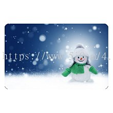 〈亮晶細沙 卡貼 貼紙〉雪人 聖誕節 snowman  貼紙 悠遊卡貼紙
