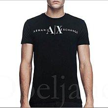 官網真品 Armani Exchange AX 阿曼尼黑色A|X LOGO文字純棉短T潮T恤M號XS S L缺貨 免運費
