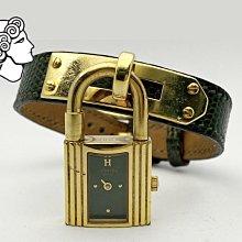 1995年 -- HERMES凱利(Kelly)錶 石英錶 墨綠 手環 手帶 收藏 飾品