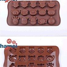 15連卡通動物大象動物多款矽膠巧克力冰塊模具手工皂