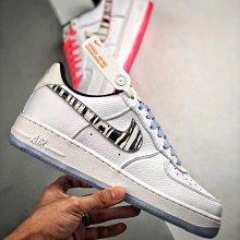 Nike Air Force 1 Low 白粉藍 鴛鴦 韓國 荔枝皮 低幫 休閒滑板鞋 CW3919-100 情侶鞋