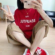 NANA'S【F07042】簡約撞色~chic韓國好看又百搭撞色字母舒適T恤 特價 預購