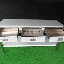 【進益不鏽鋼】不鏽鋼桌 抽屜 流理台 調理台 切菜工作台桌子 置物台 工作桌 白鐵 廚房 無塵室 鑰匙 戶外工作桌