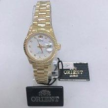 可議價 ORIENT東方錶 女 金面鑽面時尚 石英腕錶 (HS70F03S)