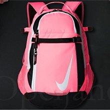 美國購入 現貨 全新 真品 NIKE 耐吉 拉鍊 螢光粉紅色 後背包 可掛安全帽 放棒球棒 成人 女孩 特價1599元