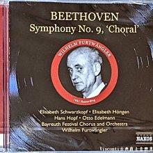 @【NAXOS】貝多芬:第九號交響曲(Wilhelm Furtwangler福特萬格勒,拜魯特節慶管弦樂團)