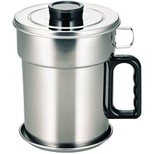 [霜兔小舖]日本代購 日本製 下村企販 不銹鋼 二重瀝油壺 活性碳瀝油壺 1.1L  舊版