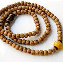 【雅之賞 佛教 藏傳文物】特賣*陳年海南9mm星月菩提A+正月高密喇叭孔108顆佛珠 實物拍攝~111706